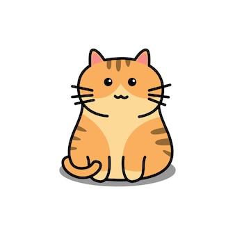 Ładny pomarańczowy kot kreskówka
