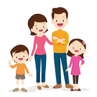 Ładny portret rodziny