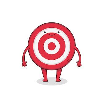 Ładny postać z kreskówki bullseye
