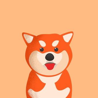 Ładny potwór z japońskiego psa shiba inu
