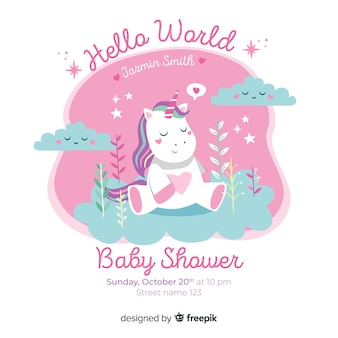 Ładny projekt baby shower