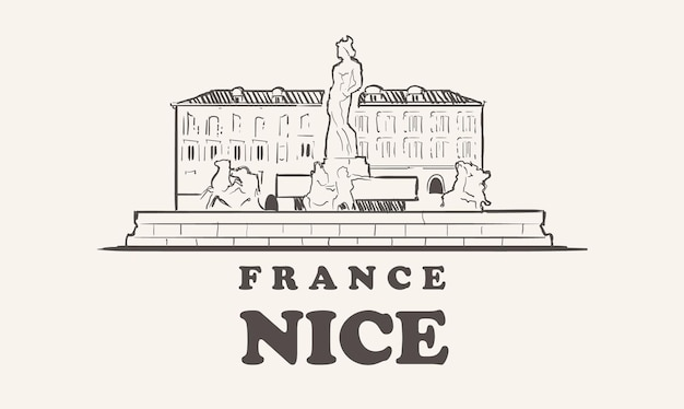 Ładny projekt ilustracji panoramę