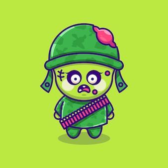 Ładny projekt kreskówki armii zombie