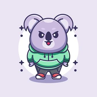Ładny projekt maskotki koala