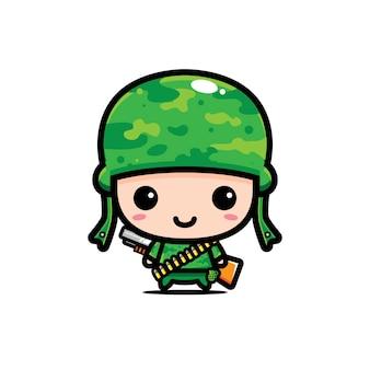 Ładny projekt postaci armii