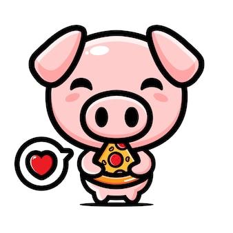 Ładny projekt postaci maskotki świni