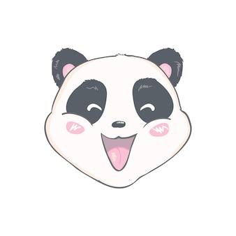 Ładny projekt postaci pandy