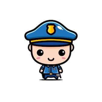Ładny projekt postaci policji