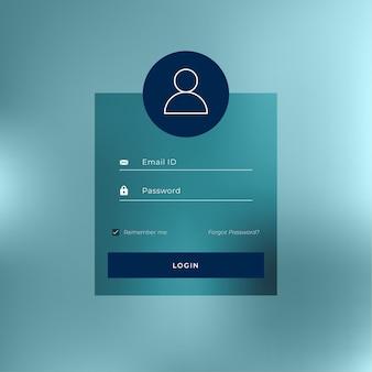 Ładny projekt szablonu interfejsu logowania