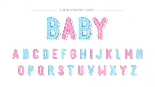 Ładny projekt typografii dziecka