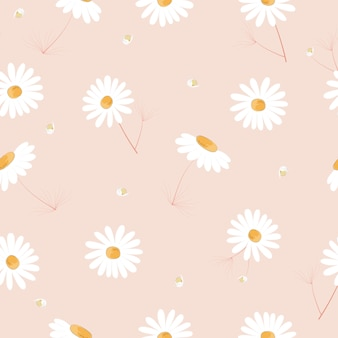 Ładny ręcznie rysowane kwiaty wzór