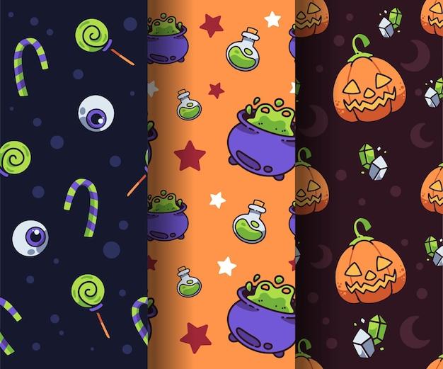 Ładny ręcznie rysowane wzór halloween