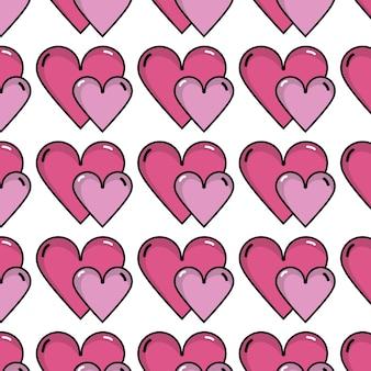 Ładny romantyczny tło dekoracji serca