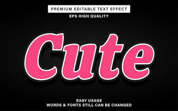 Ładny różowy efekt tekstowy
