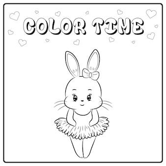 Ładny rysunek króliczek szkic do kolorowania