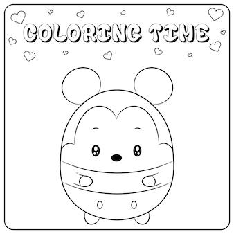 Ładny rysunek myszki miki do kolorowania