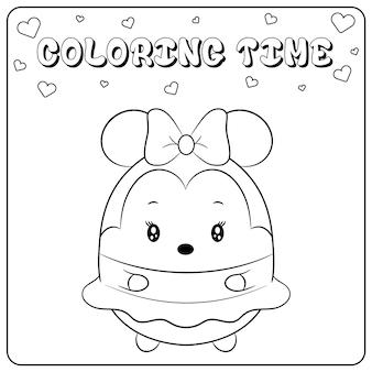 Ładny rysunek myszki minnie do kolorowania