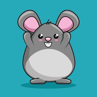 Ładny styl kawaii znaków myszy