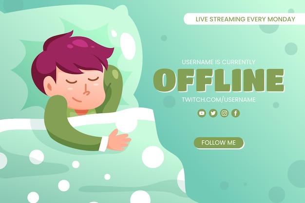 Ładny szablon transparent offline twitch