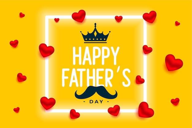 Ładny szczęśliwy dzień ojca żółte tło