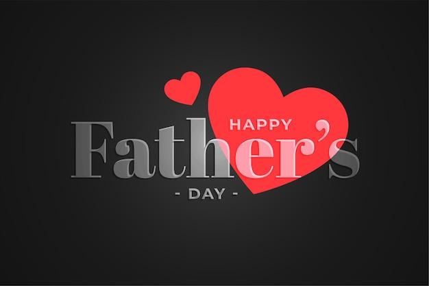 Ładny Szczęśliwy Dzień Ojców Serca W Tle Darmowych Wektorów