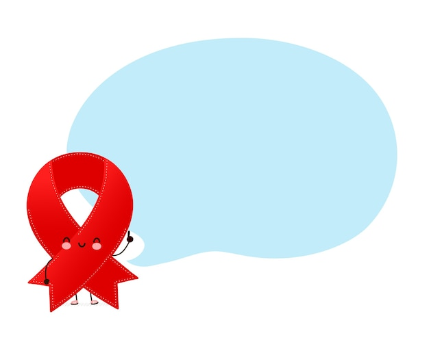 Ładny szczęśliwy zabawny czerwoną wstążką znak z dymek