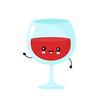 Ładny uśmiechnięty kieliszek do wina