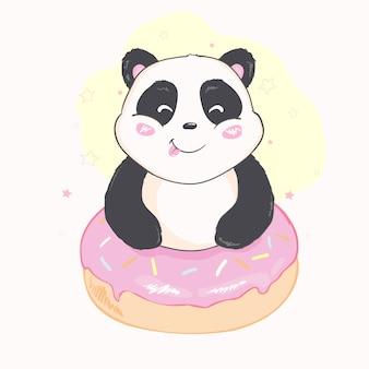 Ładny wektor panda