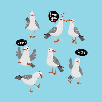 Ładny wektor znak seagull