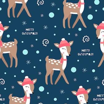 Ładny wzór bożego narodzenia z jeleniami.