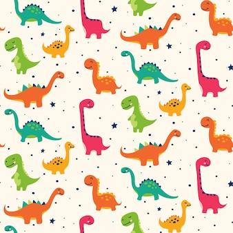 Ładny wzór dinozaura
