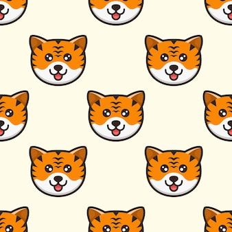 Ładny wzór głowy tygrysa