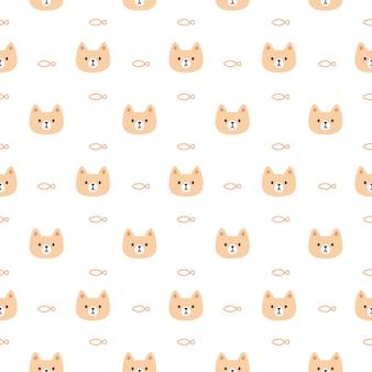 Ładny wzór kota i ryby