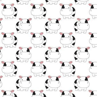 Ładny wzór krowy dziecka