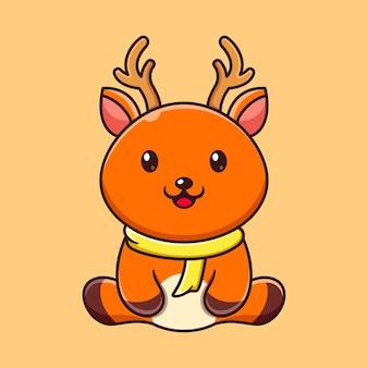 Ładny wzór logo jelenia na zimową maskotkę