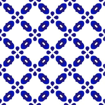 Ładny wzór niebieski i biały bez szwu