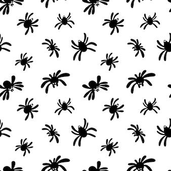 Ładny wzór pająka szablon halloween