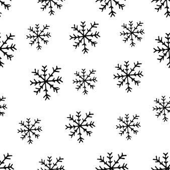 Ładny wzór płatków śniegu w nowoczesnym skandynawskim stylu w wektorze absctract nordic geometryczny wzór