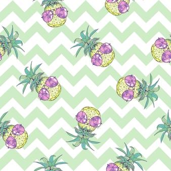Ładny wzór z ananasami