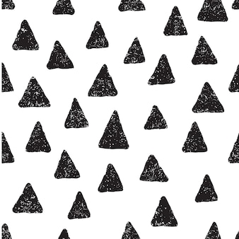 Ładny wzór z czarnymi sercami w stylu cartoon jasne tło do drukowania na tkaninie
