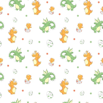 Ładny wzór z dinozaurem
