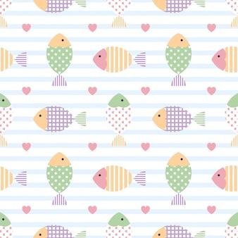 Ładny wzór z kolorowych ryb