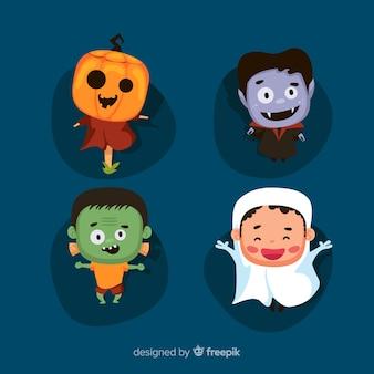 Ładny zbiór znaków halloween