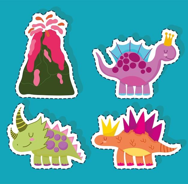 Ładny zestaw dinozaurów dinosaur