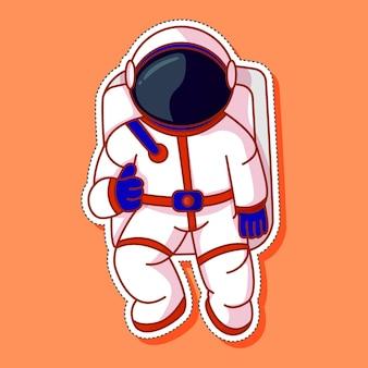 Ładny zestaw kreskówek astronautów