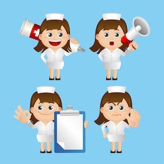 Ładny zestaw zestaw pielęgniarki