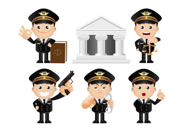 Ładny zestaw zestaw policjanta