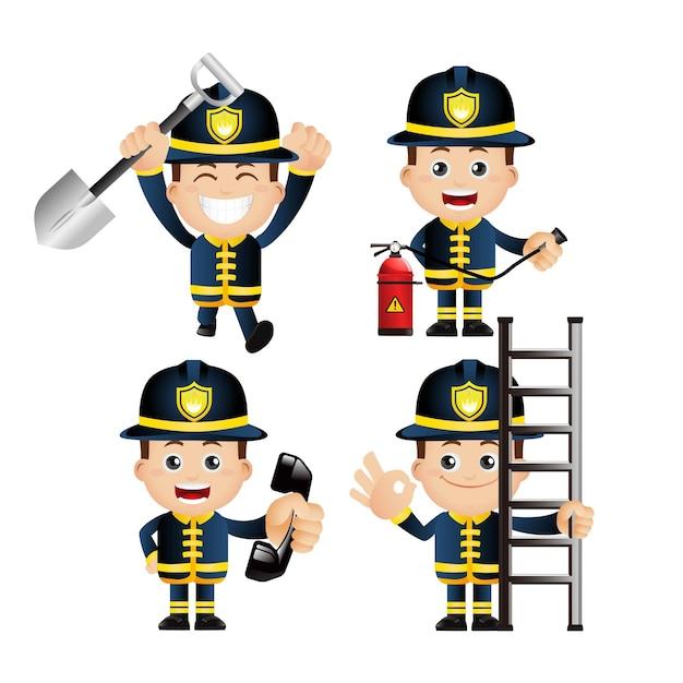 Ładny zestaw. zestaw strażaka.