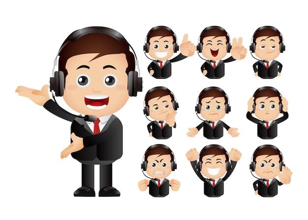 Ładny zestaw zestaw usług klienta i komunikacji