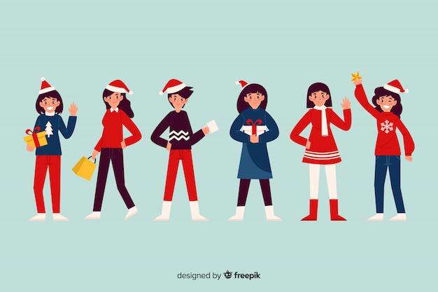 Ładny zestaw znaków bożonarodzeniowych
